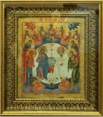 Icons in a bagetny frame of golden color