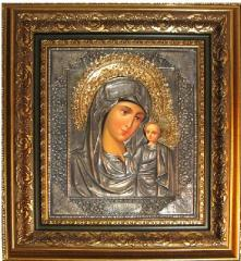 Icons of the Mother of God in a bagetny frame