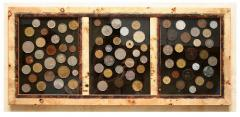 Coins in a bagetny frame