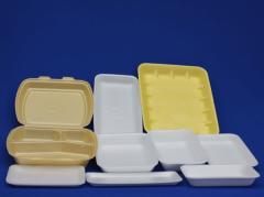 Trays from the made foam polystyrene