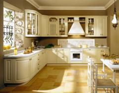 Классические кухни из дерева в стиле прованс