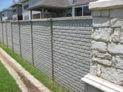 Plates concrete for fences, bilateral