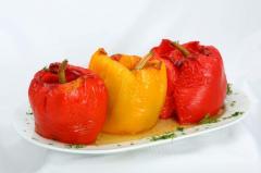 Перец фаршированный в ресторане Bachus Dava
