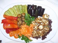Овощи гриль в ресторане Bachus Dava