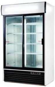 Case refrigerating with a glass door