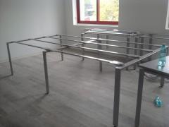 Frameworks metal folding for tables