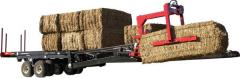 The trailer for transportation of bales