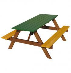 Детский стол со скамейками Модель П03