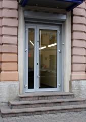 Алюминиевые двери с Термомостом