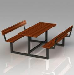 Table with benches the P28 Model