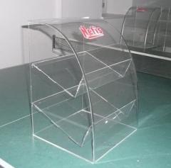 Advertizing racks from organic glass