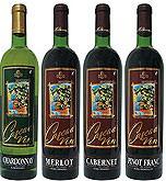 Cabernet, Merlot, Aligote, Pinot franc