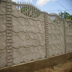Concrete plates for an ograzheniye
