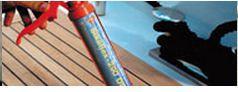 Система для укладки палубной доски с герметизацией