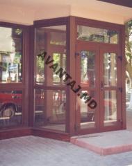 Двери из красного дерева, арт. 1