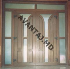 Двери из красного дерева, арт. 4