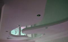 Потолки подвесные натяжные разных цветов