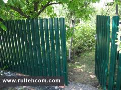 Shtaketny fence. Shtaketnik. Fence metal. Stache