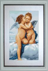Embroidery cross of B317 First Kiss Cross stitch