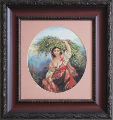 Embroidery cross of B466 Italianca cu flori