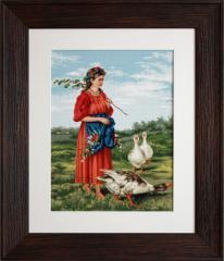 Embroidery cross of B486 Fata cu giste