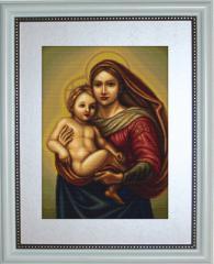 Embroidery cross of B419 Sistine Madonna Cross