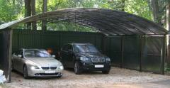 Parking canopies for parkings