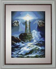 Embroidery cross of B414 Lighthouse Cross stitch