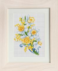 Embroidery cross of B126 Narcissuses Cross stitch