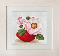 Embroidery cross of B107 Magnolia Cross stitch