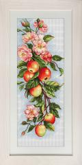 Embroidery cross of B211 Composition with Apples