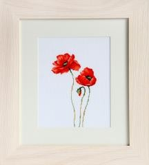 Embroidery cross of B2225 Poppies Cross stitch