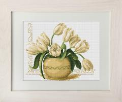 Embroidery crosses of B2217 Tulips Cross stitch