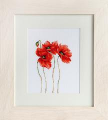 Embroidery cross of B2224 Poppies Cross stitch