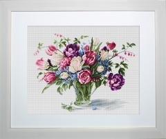 Embroidery cross of B2261 Tulips Cross stitch