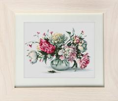 Embroidery cross of B2263 Peonies Cross stitch