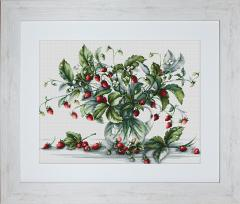 Embroidery a cross of B2267 Strawberry Bouquet