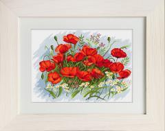 Embroidery cross of B272 Poppies Cross stitch