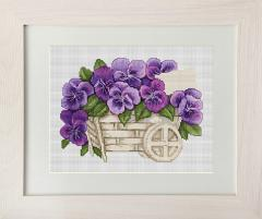 Embroidery cross of B259 Pansies Cross stitch