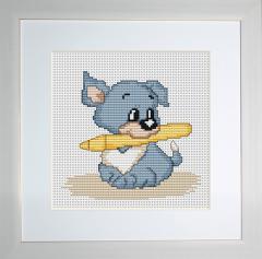 Embroidery cross of B184 Puppy Cross stitch
