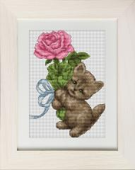 Embroidery cross of B194 Kitten Cross stitch