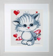 Embroidery cross of B182 Kitten Cross stitch