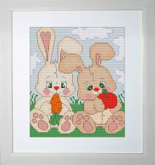 Embroidery cross of B195 Bunnies Cross stitch