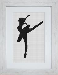 Embroidery cross of B2273 Ballerina Cross stitch