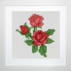 Embroidery cross of B033 Roses Cross stitch
