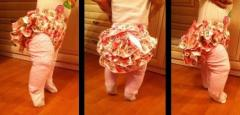 Трусики-юбка для малышек