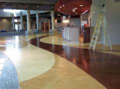 The color, polished concrete.