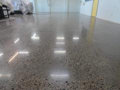 The polished concrete