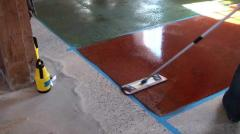 Color uprochnitel of concrete floors