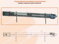 DOUBLE TUBULAR CHAIN CONVEYOR